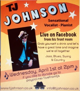 T J Johnson gig flyer