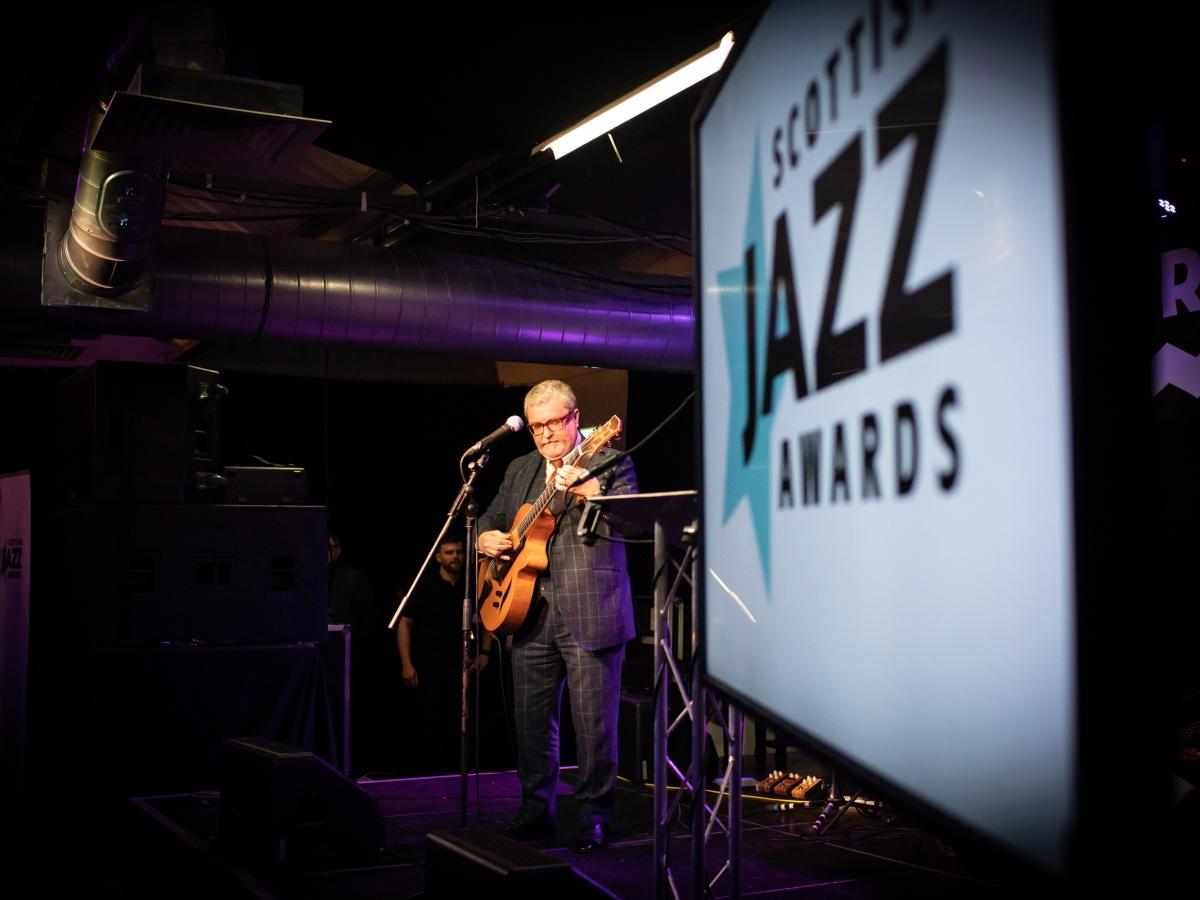 Martin Taylor performing at the 2019 Scottish Jazz Awards